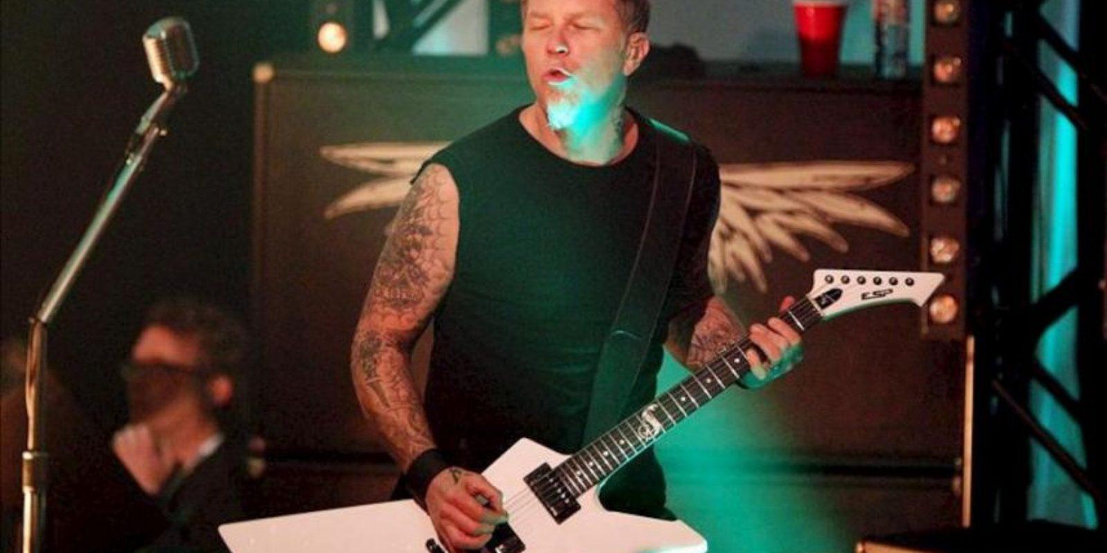 El cantante y guitarrista de la banda estadounidense Metallica, James Hetfield. EFE/Archivo