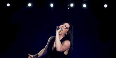 La cantante de la banda estadounidense Evanescence, Amy Lee, durante el concierto que ha ofrecido en la primera jornada del festival Rock in Rio. EFE