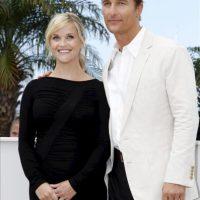 Los actores estadounidenses Reese Witherspoon (i) y Matthew McConaughey, posan durante la presentación de 'Mud'. EFE