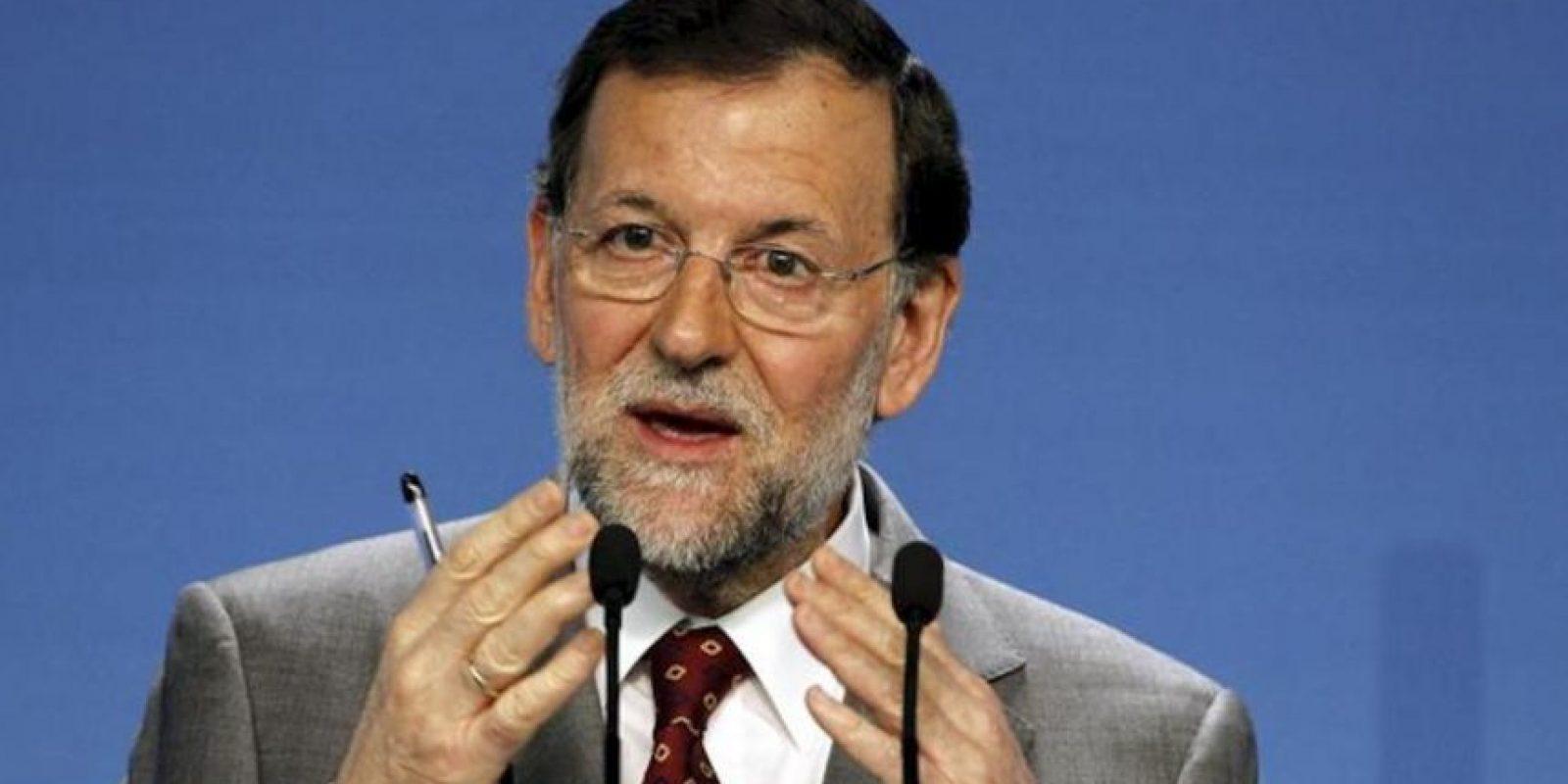 El presidente del Gobierno español, Mariano Rajoy, durante la rueda de prensa que ofreció tras presidir el Comité Ejecutivo Nacional del PP, hoy en Madrid. EFE