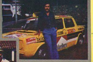 Con su Simca Foto:Revista Auto y Pista