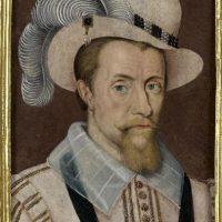 Fotografía facilitada por Christie's de un retrato del rey Jaime I, uno de los cuadros expuestos hoy por esta galería, que recuerdan la vida de reyes y reinas británicos desde Enrique VIII hasta Isabel II, con motivo del Jubileo de Diamantes de la soberana. EFE
