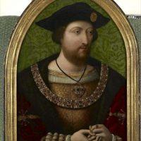 Fotografía facilitada por Christie's de un retrato de Enrique VIII (1941-1547), uno de los cuadros expuestos hoy por esta galería, que recuerdan la vida de reyes y reinas británicos desde Enrique VIII hasta Isabel II, con motivo del Jubileo de Diamantes de la soberana. EFE