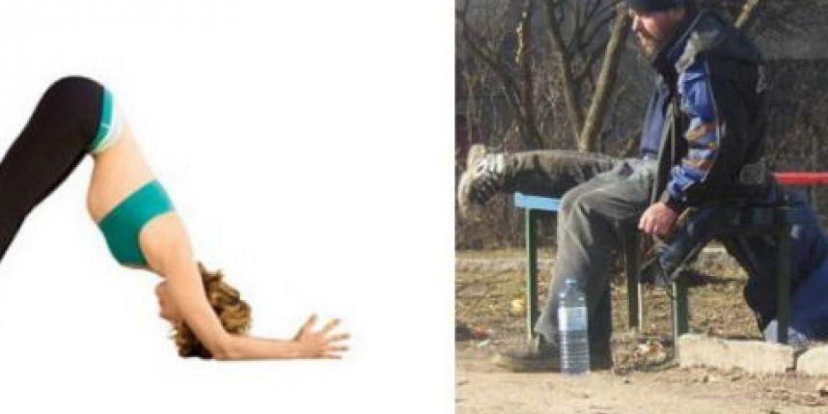 [Galería] El exceso del alcohol conduce al Yoga