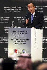 El secretario general de la ONU, Ban Ki-Moon, hoy, jueves, 31 de mayo, en Estambul (Turquía) . EFE