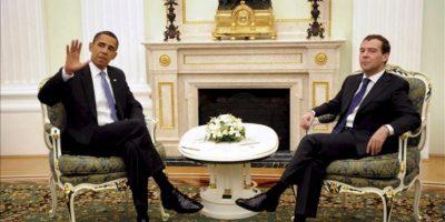 Obama, que llegará hoy a Los Cabos (México), y Putin se reunirán a primera hora del lunes antes de que comience en este balneario del Pacífico la cumbre del G20. EFE/Archivo