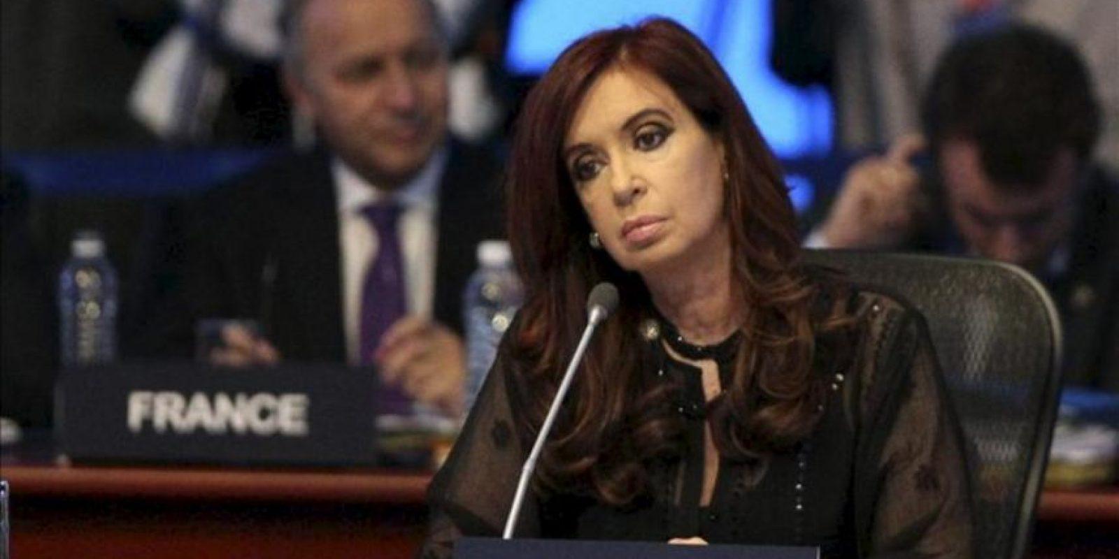 La presidenta de Argentina, Cristina Fernández, participa en la cumbre del G20, en el Centro Internacional de Convenciones de la ciudad de Los Cabos. EFE