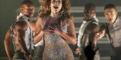 La actriz y cantante estadounidense Jennifer Lopez se presenta en concierto este 19 de junio de 2012, en el Movistar Arena de Santiago, Chile. EFE