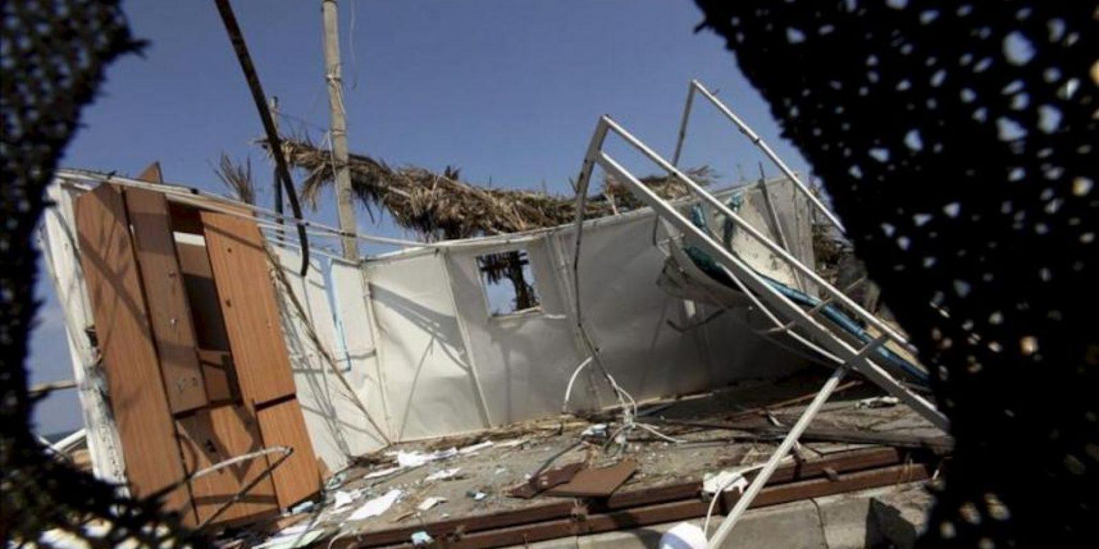 Daños causados en un recinto de Hamás después de un ataque de la aviación israelí en el norte de la franja de Gaza. EFE