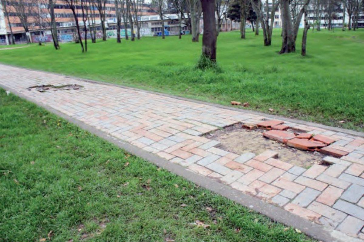 Senderos peatonales Foto:Informe Universidad Nacional