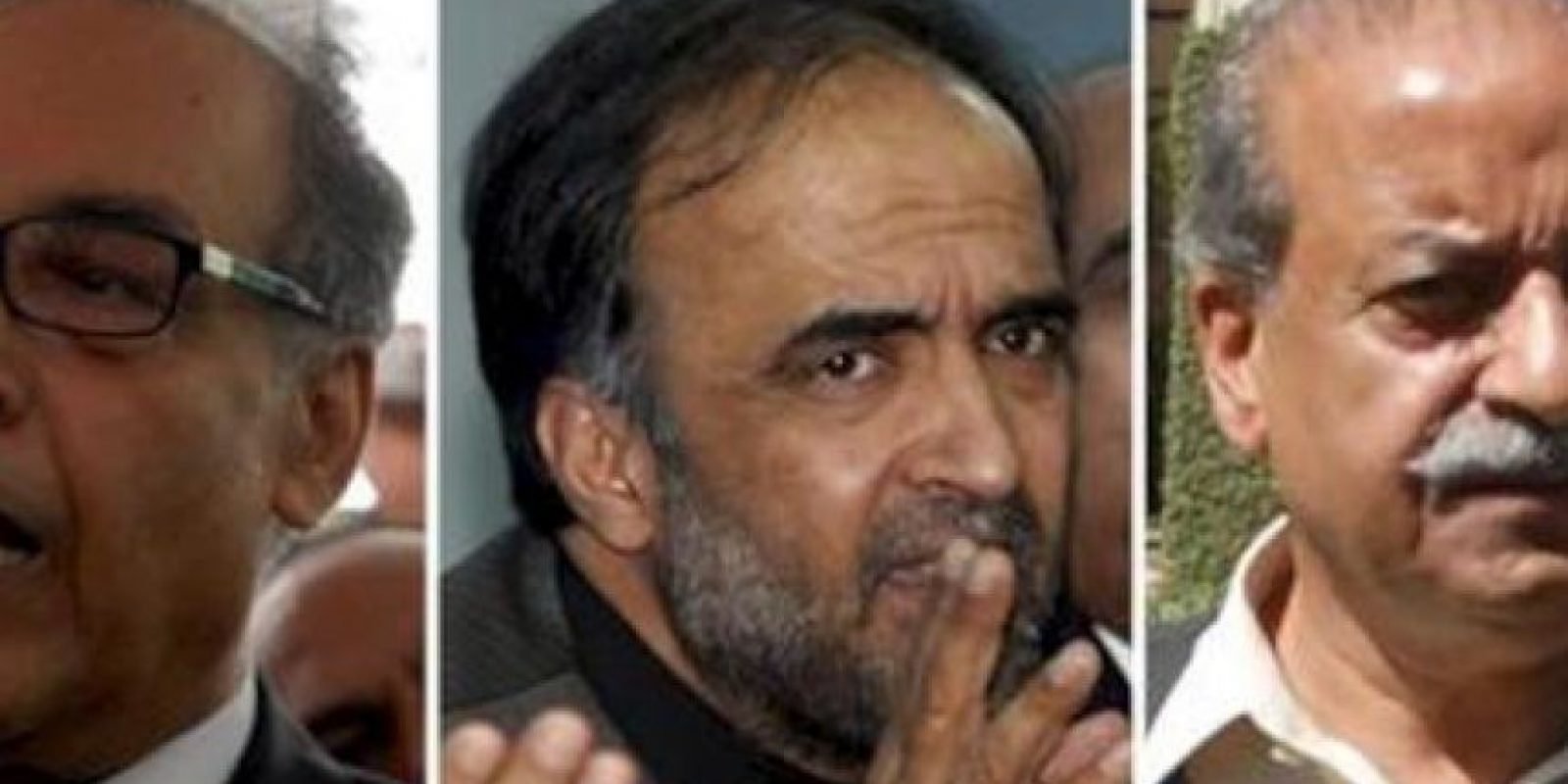 Candidatos a primer ministro de Pakistán, Raja Pervez Ashraf (i-d), Majdum Shahabudín y Qamar Zamán Kaira -los tres candidatos por el gubernamental Partido Popular de Pakistán (PPP)-, y los opositores Sardar Mehtab Ahmed Khan de la Liga Musulmana-N, y Fazlur Rehmán del partido islamista minoritario Jamiat Ulema-e-Islam. EFE