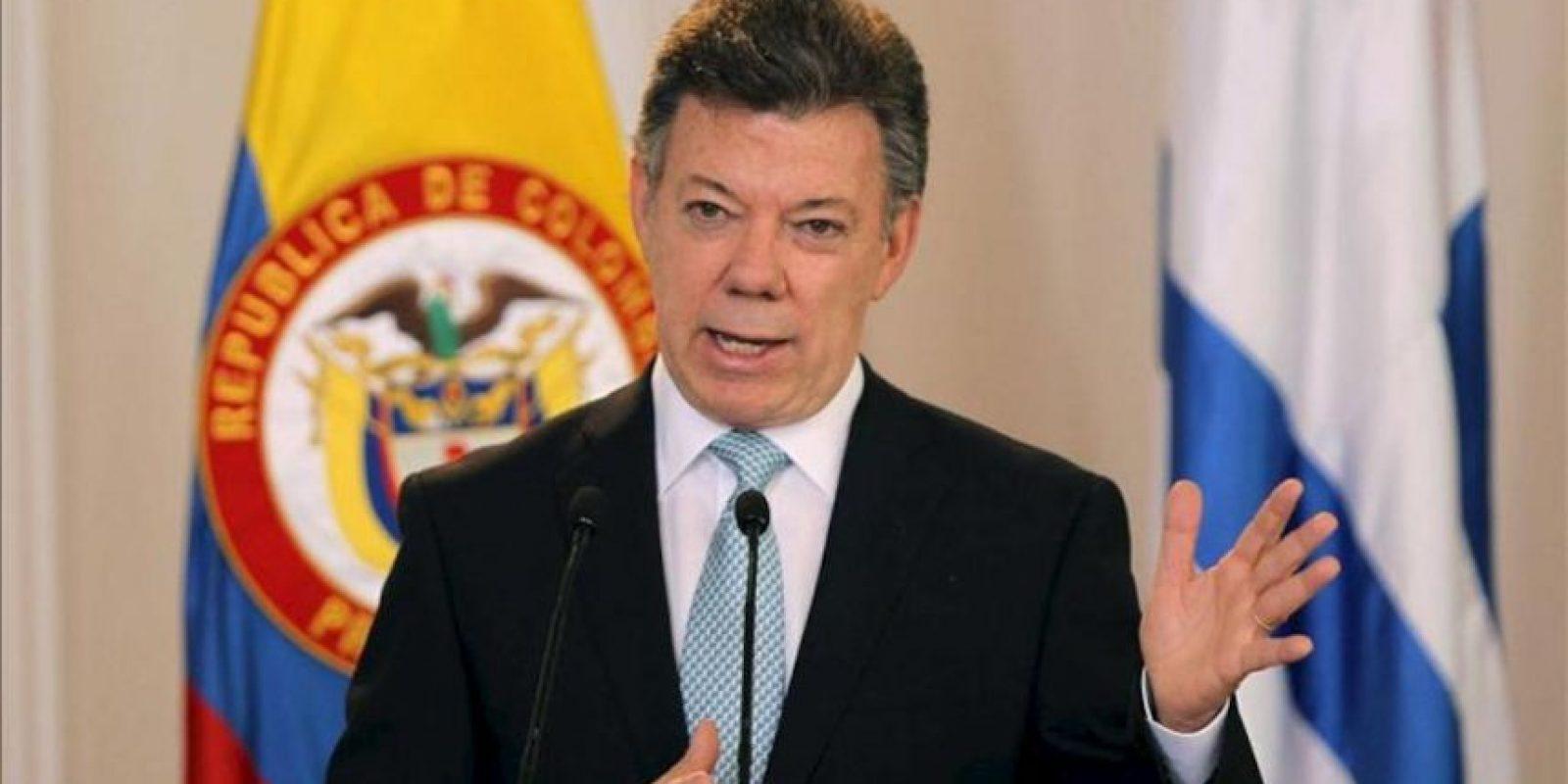 En la imagen, el presidente colombiano, Juan Manuel Santos. EFE/Archivo