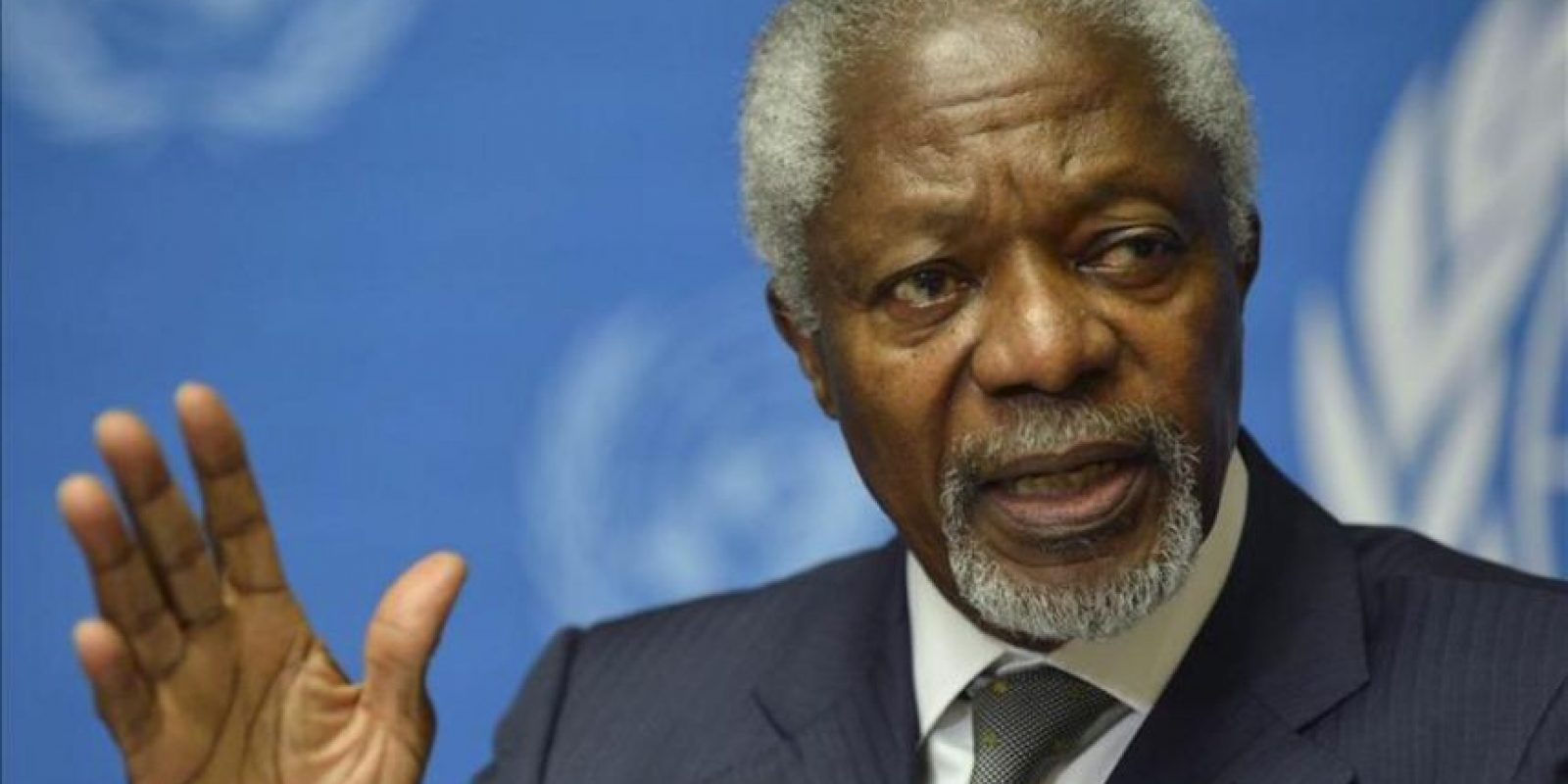 El enviado especial de la ONU para Siria, Kofi Annan, habla en rueda de prensa hoy viernes 22 de junio de 2012 en Ginebra, Suiza. EFE