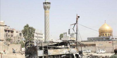 Imagen del lugar de una explosión en un garaje en la zona de Al Sayeda Zainab, cerca de Damasco. EFE/Archivo