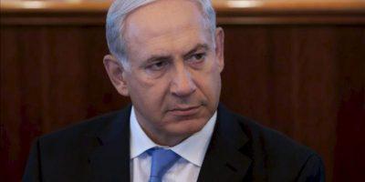 El primer ministro israelí, Benjamín Netanyahu, asiste hoy a la reunión semanal del gabinete de Gobierno, en Jerusalén, Israel. EFE