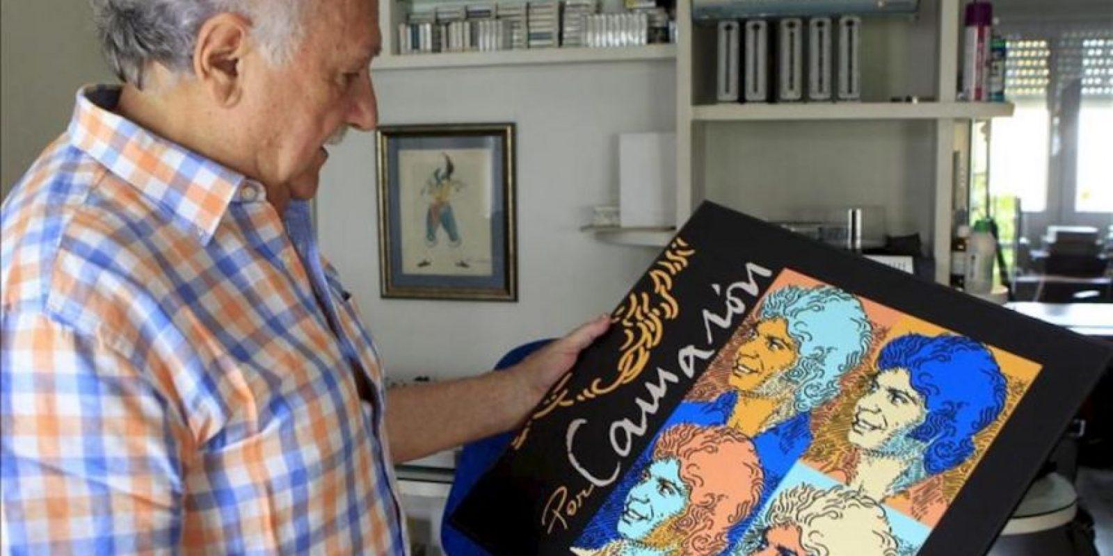 """Ricardo Pachón, productor de una docena de discos de Camarón de la Isla, entre ellos el legendario """"La leyenda del tiempo"""", durante la entrevista concedida a EFE con motivo del 20 aniversario de la muerte del cantaor y en la que ha dicho que a Camarón, """"tímido y humilde"""", le """"sacaba de quicio"""" verse """"deificado"""". EFE"""