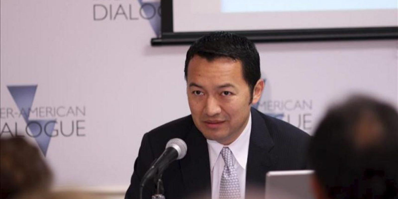 El director gerente de estrategia para América Latina del banco J.P. Morgan, Luis Oganes, participa en el foro Diálogo interamericano en Washington (DC, EE.UU.). EFE