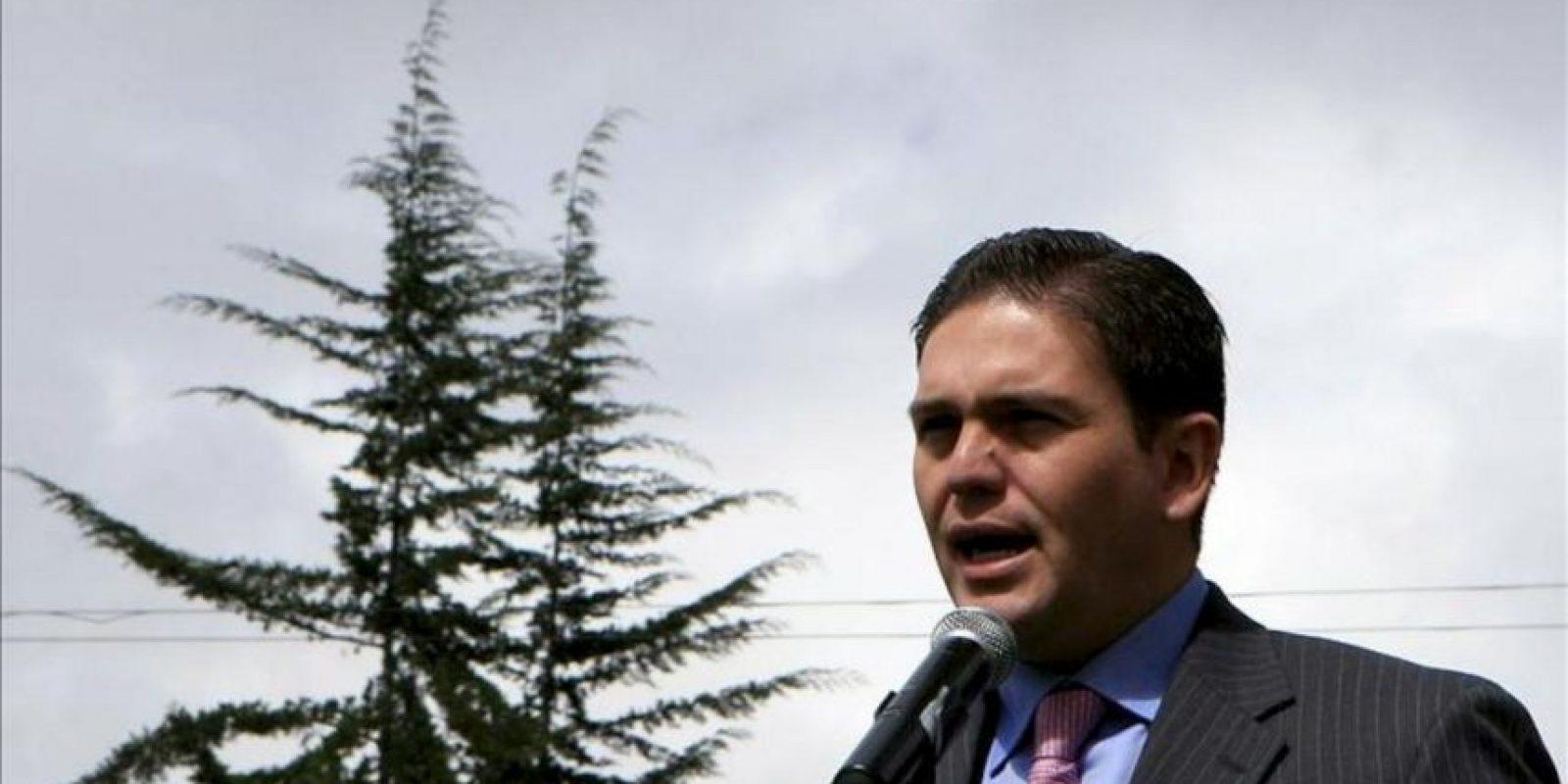 En la imagen, el ministro de Defensa de Colombia, Juan Carlos Pinzón. EFE/Archivo