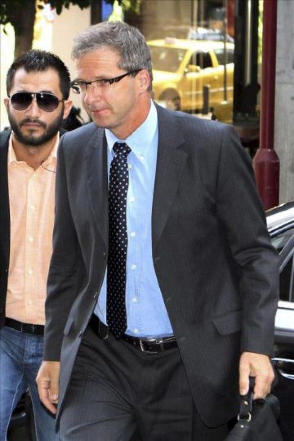 El representante de la misión del BCE, Klaus Masuch, llega al ministerio de Finanzas en Atenas, Griega. EFE