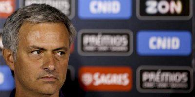 El entrenador del Real Madrid, el portugués José Mourinho durante una rueda de prensa convocada en Lisboa (Portugal) hoy, viernes 27 de julio. EFE