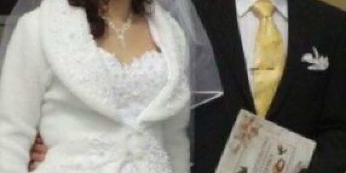 [Galería] La novia parece ser muy feliz