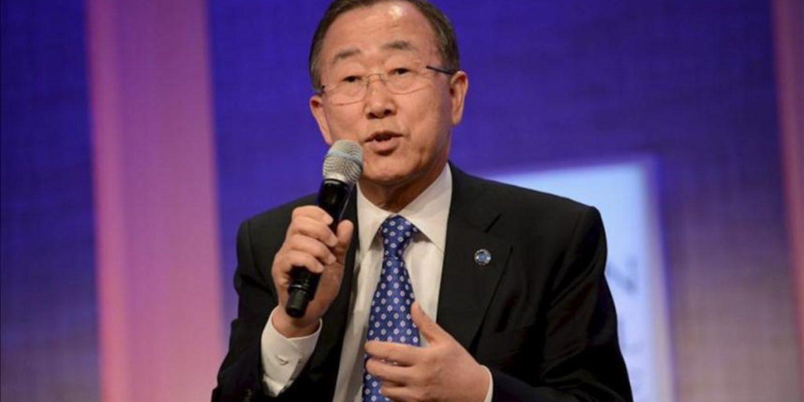 El secretario general de la ONU, Ban Ki-moon. EFE/Archivo