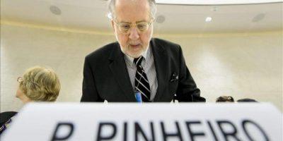 El presidente de la Comisión Independiente de Investigación en Siria de la ONU, el brasileño Paulo Pinheiro. EFE/Archivo