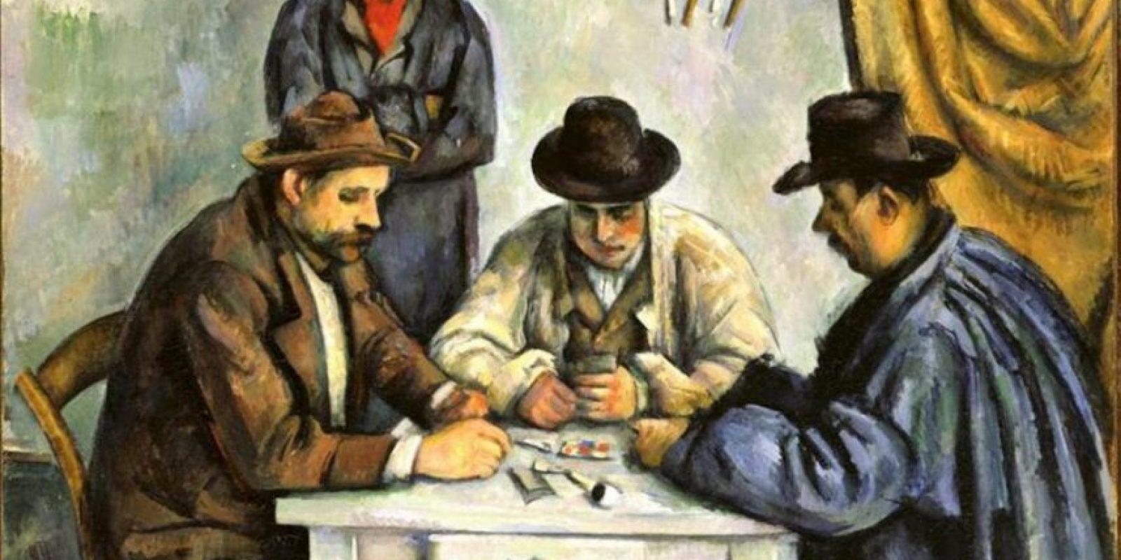 """Imagen facilitada por el Museo de Bellas Artes de Budapest (Hungría) del cuadro """"Los jugadores de naipes"""", de Paul Cézanne, que forma parte de la exposición """"Cézanne y el pasado"""". EFE"""