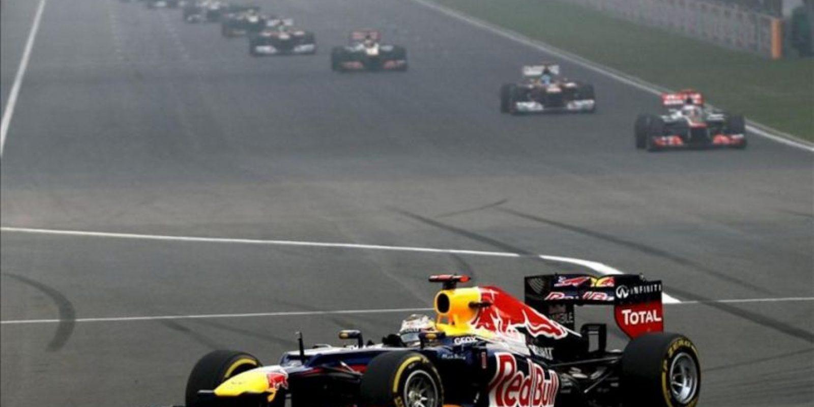 El piloto Sebastian Vettel durante la carrera. EFE