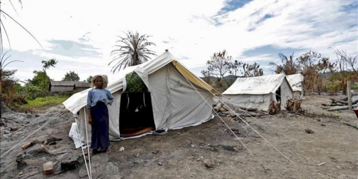 Más de 22.000 desplazados por el rebrote de violencia en el oeste de Birmania
