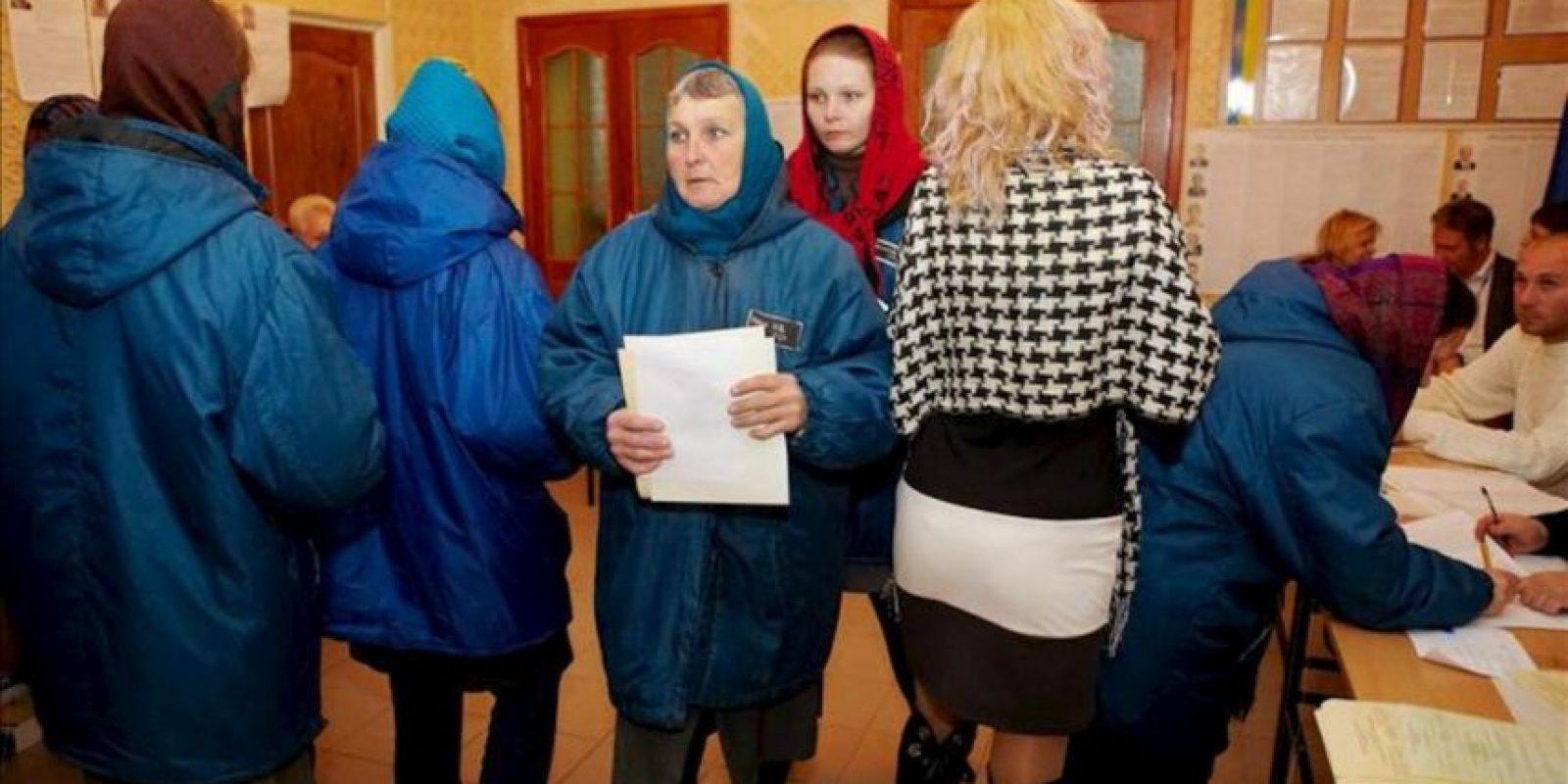 Prisioneros de la prisión de Kachanivska. EFE