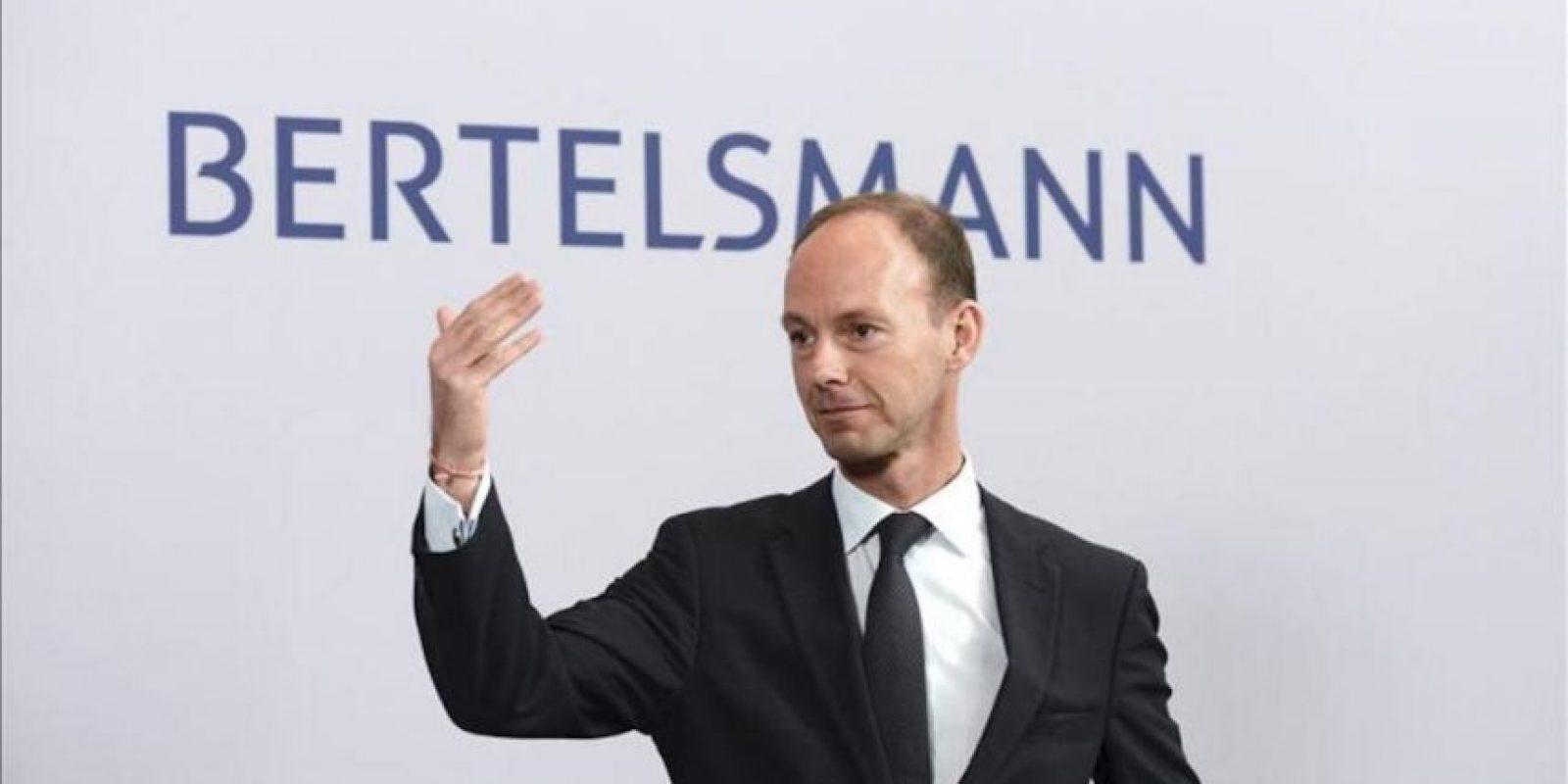El consejero delegado de Bertelsmann, Thomas Rabe, durante una rueda de prensa celebrada en Berlín (Alemania). EFE/Archivo