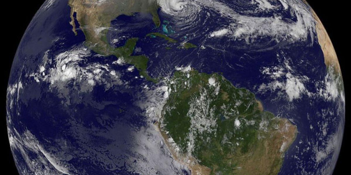 El huracán Sandy  desde el espacio