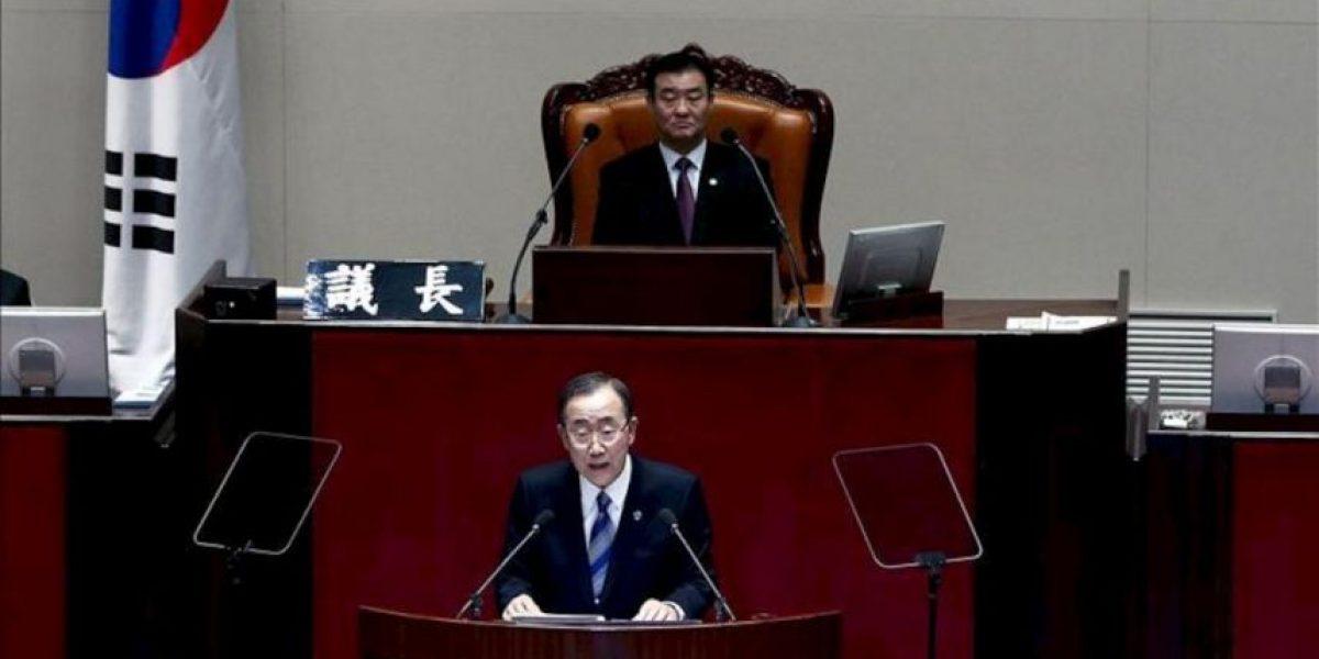 Ban Ki-moon dice en Seúl que estudia visitar Corea del Norte