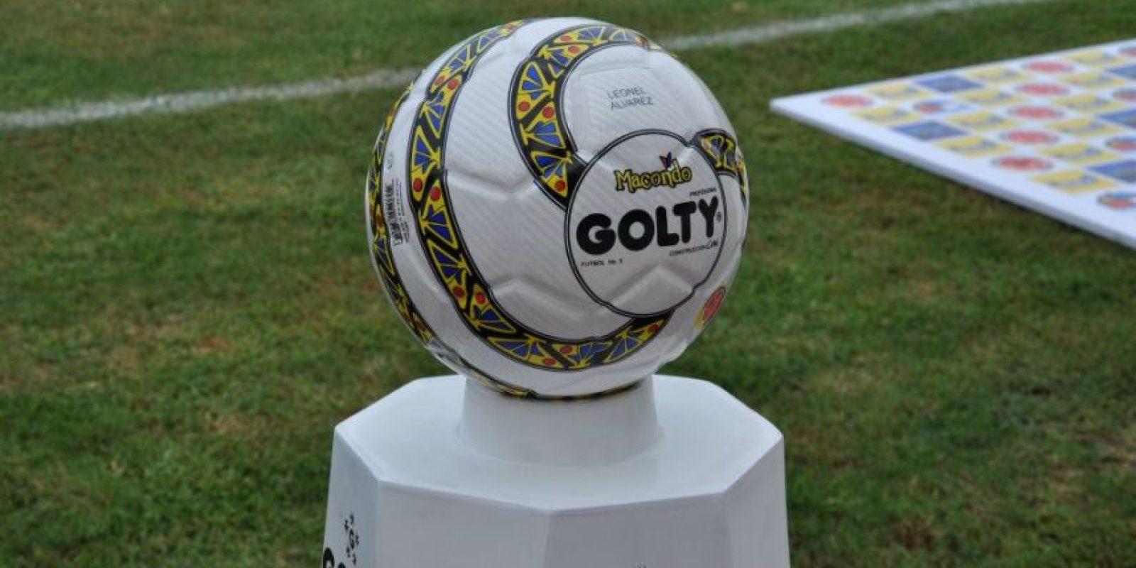 Golty Macondo. Balón oficial de la selección Colombia desde 2011. Foto:Golty