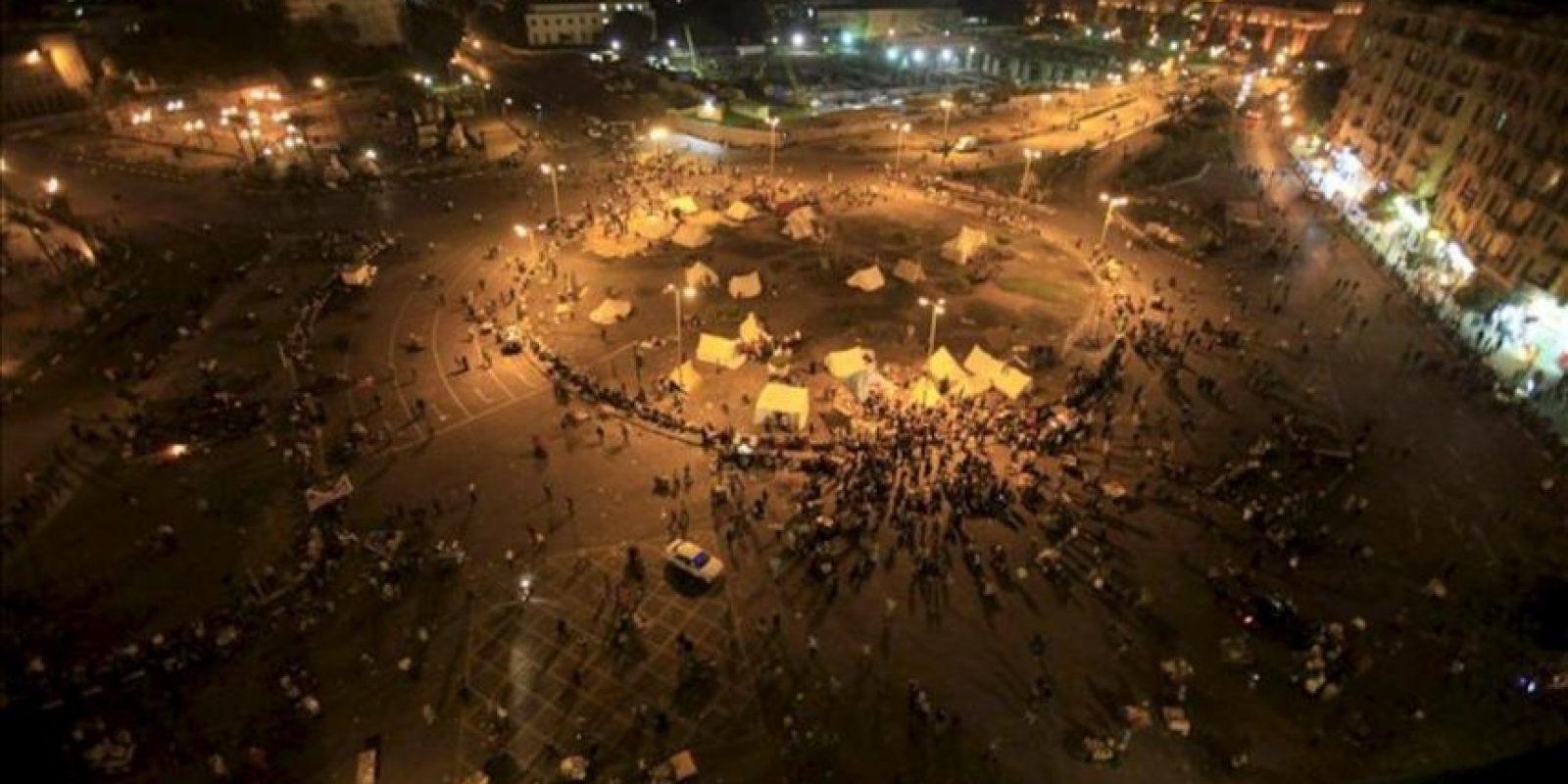Vista general de la protesta contra el presidente Mursi en la plaza Tahrir de El Cairo. EFE