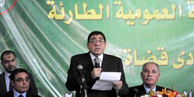 El fiscal general de Egipto, Abdel-Meguid Mahmoud, durante una rueda de prensa esta mañana en El Cairo. EFE