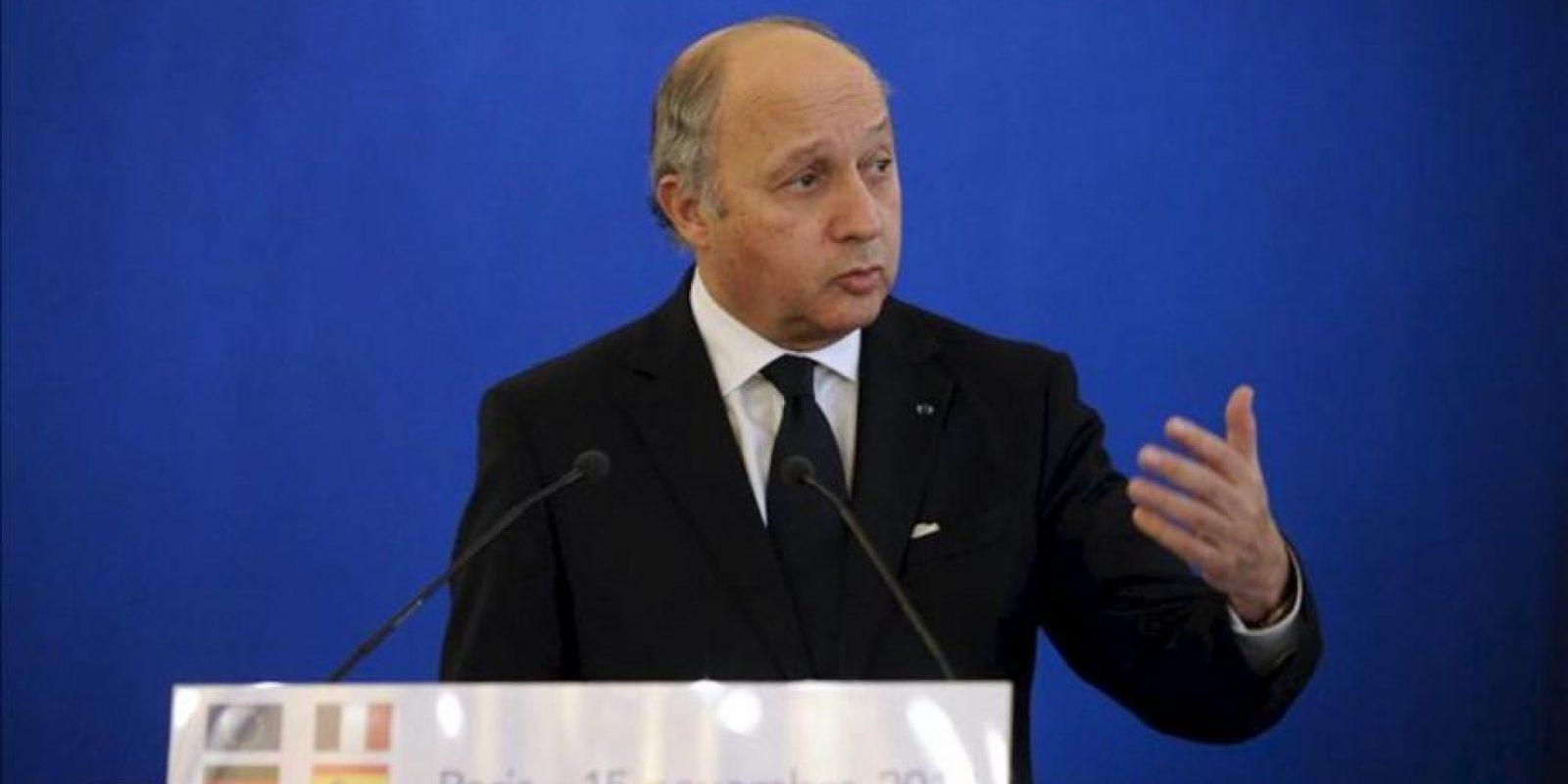 Imagen de archivo del ministro de Exteriores francés, Laurent Fabius. EFE/Archivo