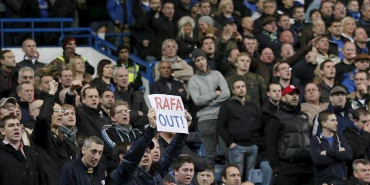 Los aficionados del Chelsea piden a Benítez que se disculpe