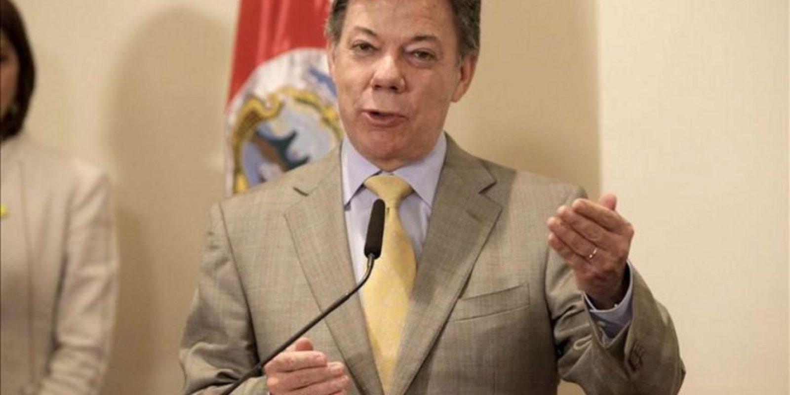 Imagen de archivo del presidente colombiano, Juan Manuel Santos. EFE/Archivo