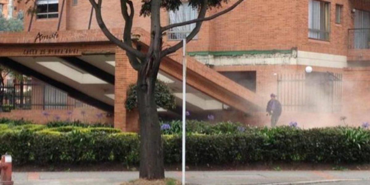 Se desploma portería de Conjunto residencial en Ciudad Salitre