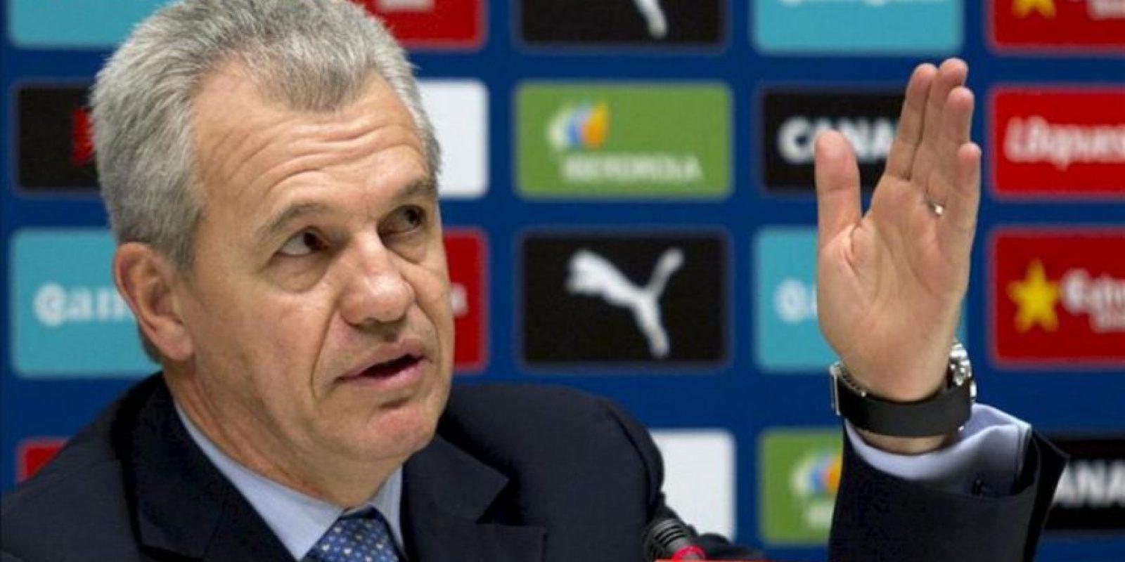 El técnico mexicano Javier Aguirre, durante la rueda de prensa de su presentación como nuevo entrenador del RCD Espanyol. EFE