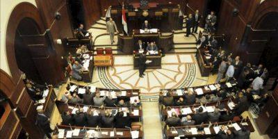 Vista general de la asamblea constituyente egipcia, poco antes de la votación para el borrador de la nueva Constitución de Egipto, en El Cairo, Egipto. EFE