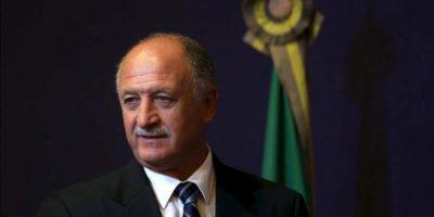 Luis Felipe Escolari asiste a una rueda de prensa hoy en Río de Janeiro, Brasil, donde la Confederación Brasileña de Fútbol (CBF) lo anunció como seleccionador nacional hasta el Mundial de 2014, en el que jugará de anfitrión. EFE