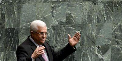 El presidente de la Autoridad Nacional Palestina, Mahmud Abás, agradece este 29 de noviembre, luego de hablar ante la Asamblea General de la ONU, en Nueva York (EE.UU.). EFE