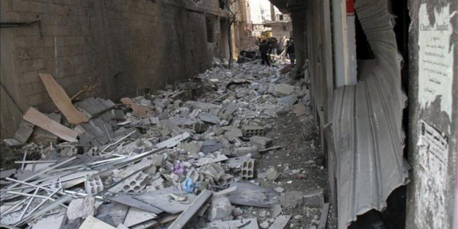 Ataque con coche bomba en Yarmana, de mayoría drusa, en Damasco, Siria. EFE/Archivo
