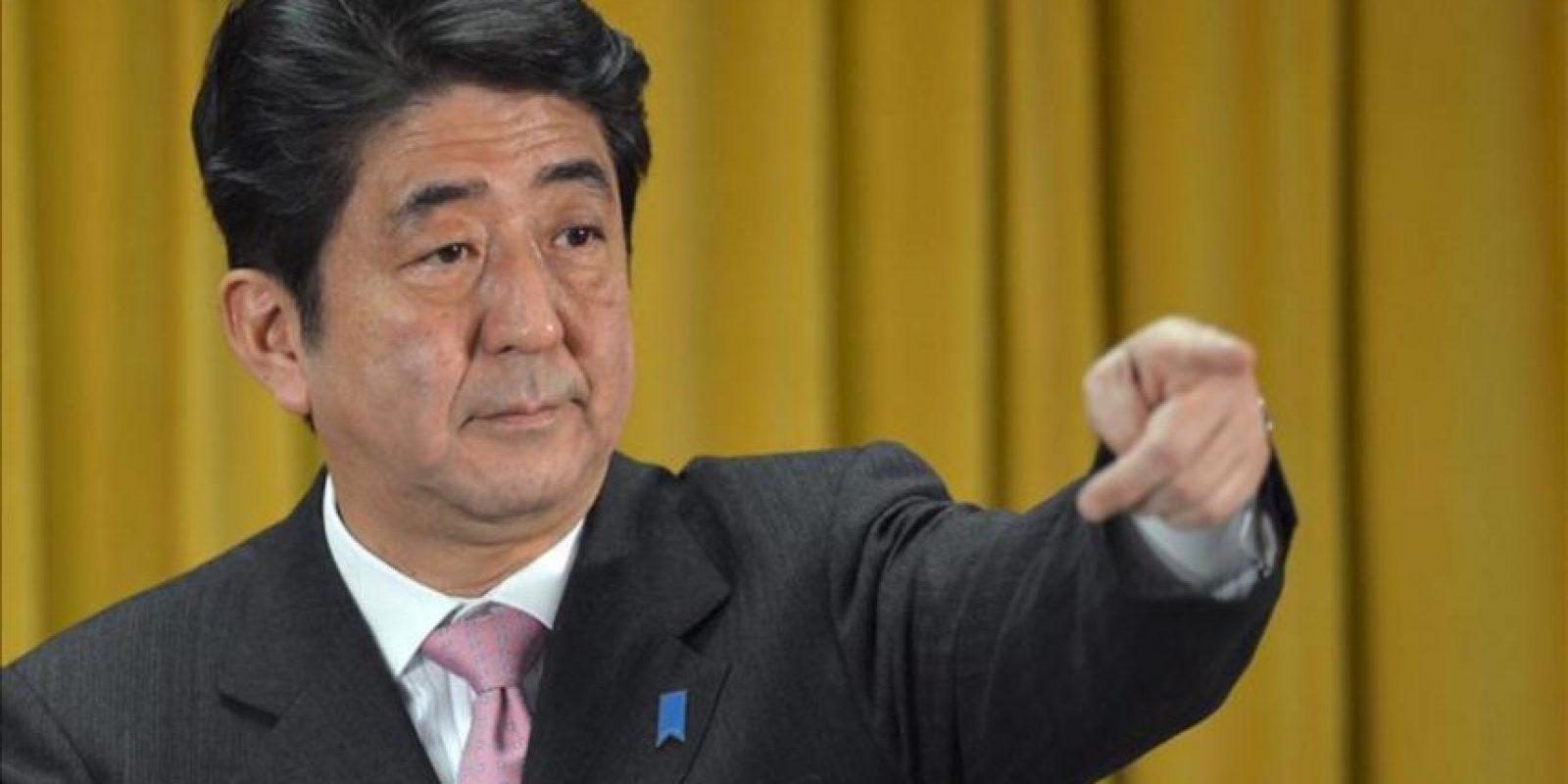 El presidente del Partido Liberal Demócrata (PLD) de Japón, Shinzo Abe. EFE