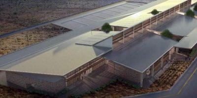 Imagen digital cedida por Corporación América este 19 de diciembre, de una vista general del diseño de una terminal aeroportuaria ecológica ubicada en las islas ecuatorianas de Galápagos. EFE