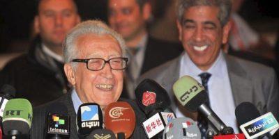 El enviado especial de las Naciones Unidas a Siria, Lakhdar Brahimi, durante una rueda de prensa en Damasco. EFE