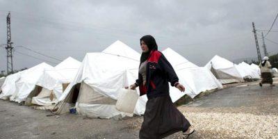 Refugiados sirios en una tienda de campaña en el distrito de Hatay, Turquía. EFE/Archivo